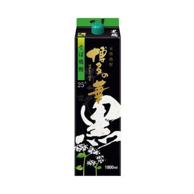 本格焼酎 博多の華 黒麹 そば 25% パック